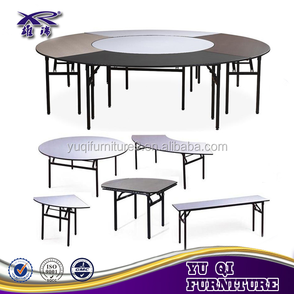 New model good quality 8 seater round folding pvc table for Dining table latest model