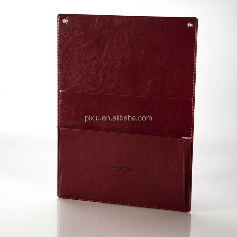 Factory Supply Hotel Laundry List Holder in High Quality PU Leather