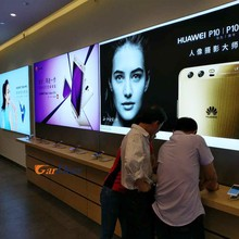 Shenzhen customized wall LED UV aluminum light box for mobile phone store display