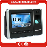 4.3 Inch Touch Screen portable fingerprint time attendance with free software
