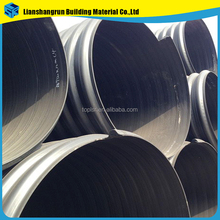 large diameter steel strip reinforced hdpe corrugated drainage pipe