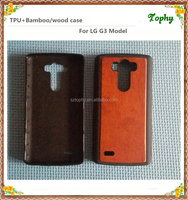 Natural Real Wood Hybrid Hard Back wooden Cover Case For LG G3
