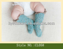 Comfortable newborn socks wholesale baby leg warmer with lace
