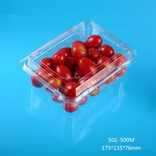 PET plastic disposable clamshell fruit packaging container