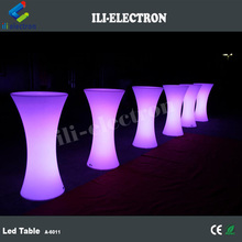 high top LED Lights Bar Round cocktail Table