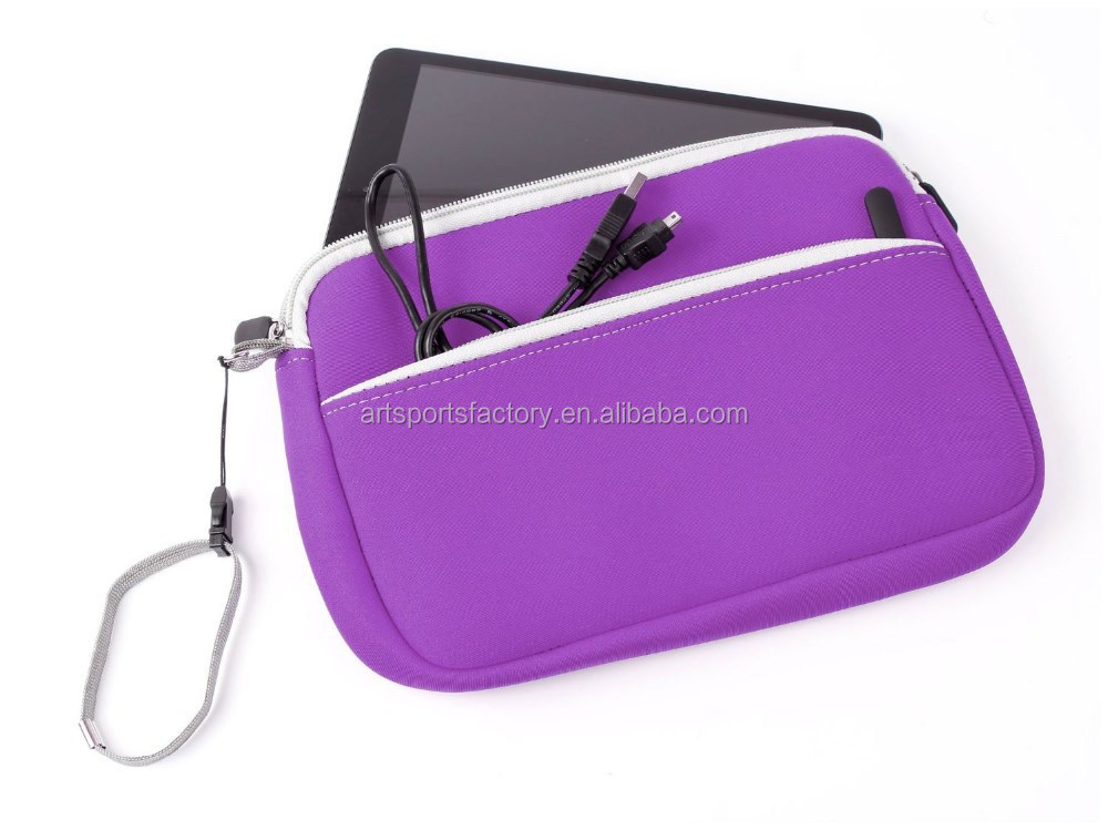 factory price neoprene table case with front pocket fit for Ipad Mini