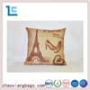 Zhaoxiang 2016 new paris tower printed fiber fill pillow