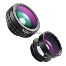 Phone Lens, AUKEY Optic Lens 180 Fisheye Lens + Wide Angle Lens + 10X Macro Lens for iPhone 6s, Samsung, Android Smartphones