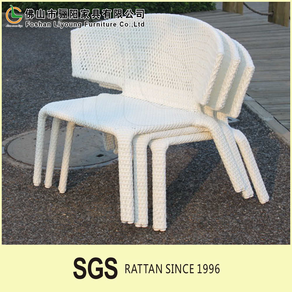 High Quality hot selling factory supply Cheap Plastic PE rattan durable stackable Dining Chair