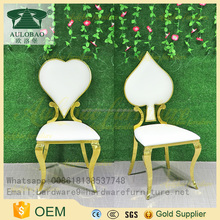 White Pu Leather cheap poker dining chairs