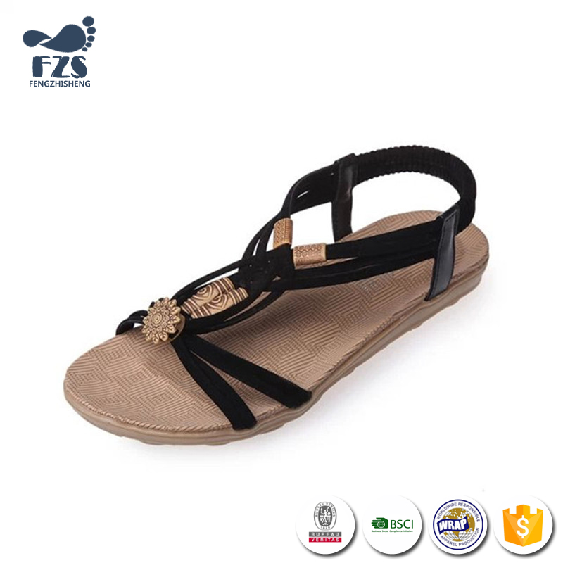 HFRTA231 2017 fashion cheap wholesale peep toe latest women flat sandals