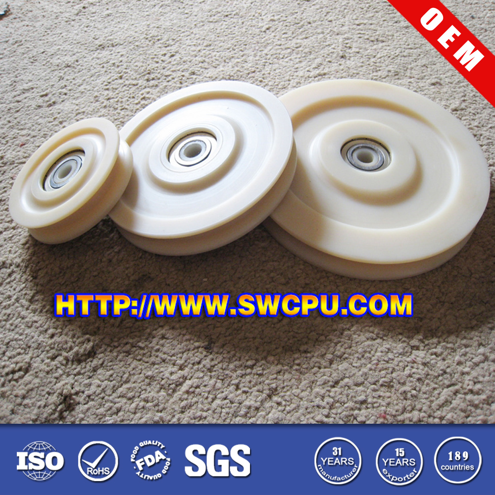 Custom high quality nylon pulley with metal insert