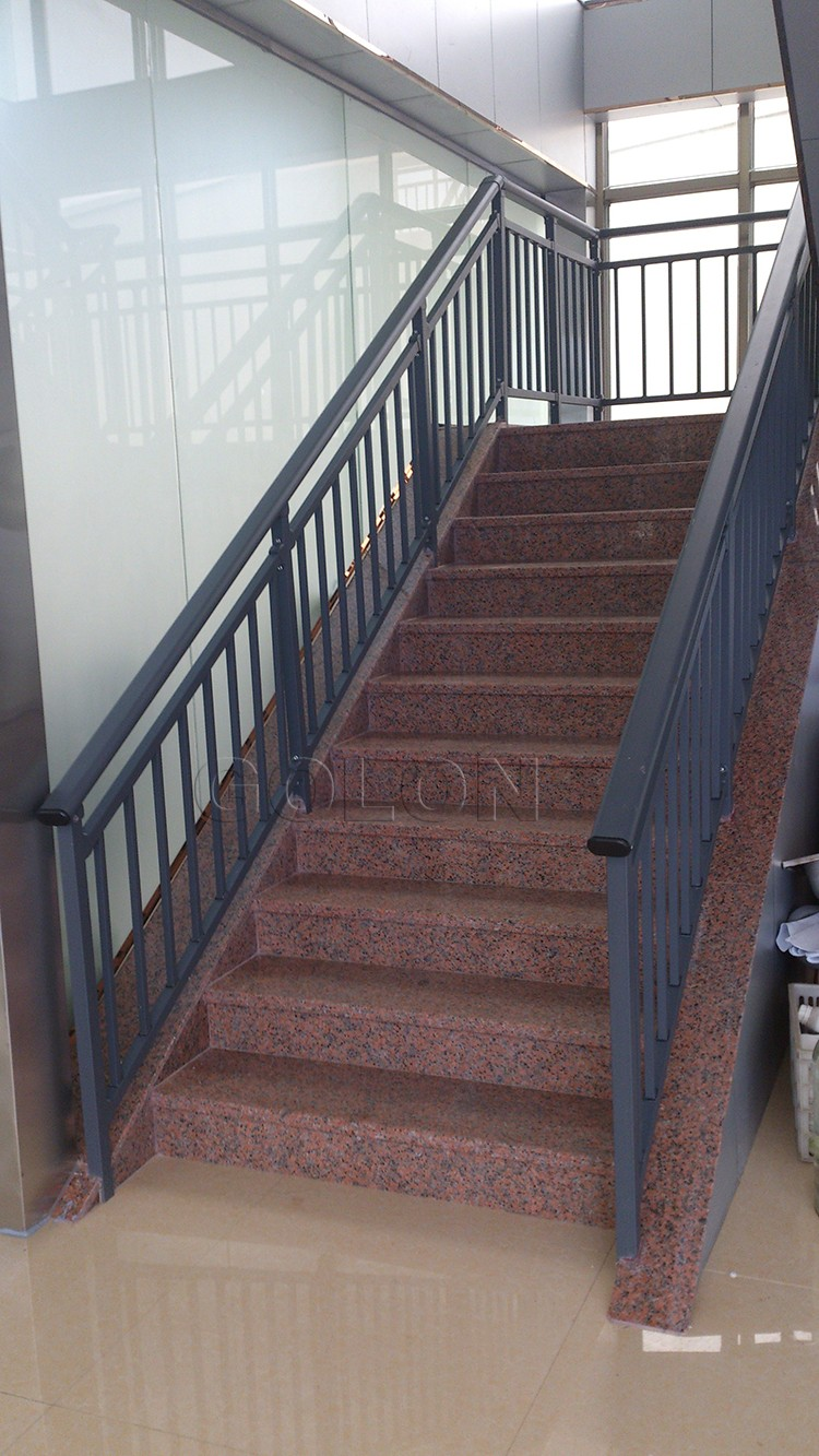 Indoor or outdoor wrought iron stair railings prefab metal stair handrail buy stair railings for Lowes exterior wrought iron railings