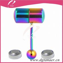 Hot sale piercing body jewelry Anodized vibrating tongue ring