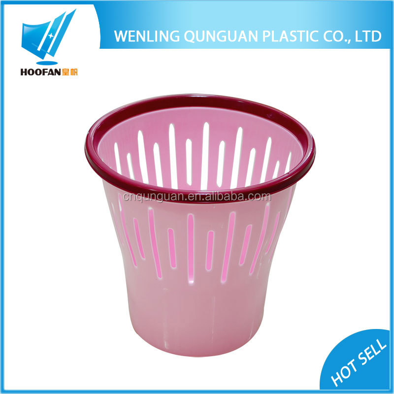Cheap Price Pink Durable Plastic Waste Bin