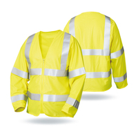 LX658-High Visibility Fluorescent Yellow Long Sleeves Flame Retardant Safety Vest High Quality Fire Resistant Self-