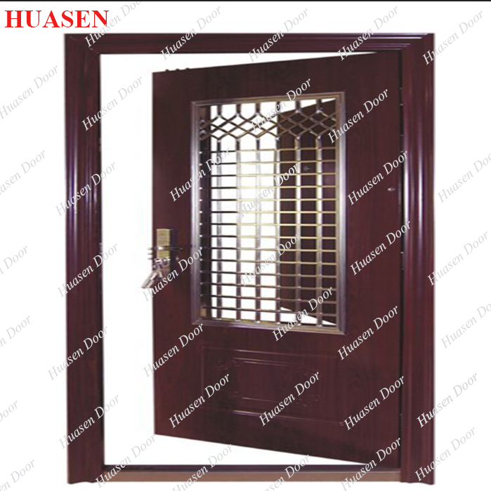 Safety main door grill design buy steel grill door for Wooden main door design catalogue