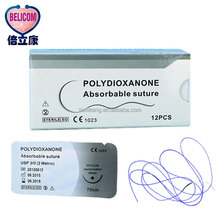 High Quality Cheap Hot Sales Disposable Hospital Absorbable Medical Surgical Polydioxanone PDO Suture Thread With Needles
