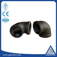 Black Malleable screw cast iron pipe fitting 90 degree elbow