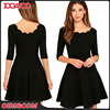 2016 Casual Party One Piece Short Black Girl Dresses Nice Latest Designs Casual Dress For Women