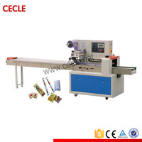 automatic bread flow wrap packing machine