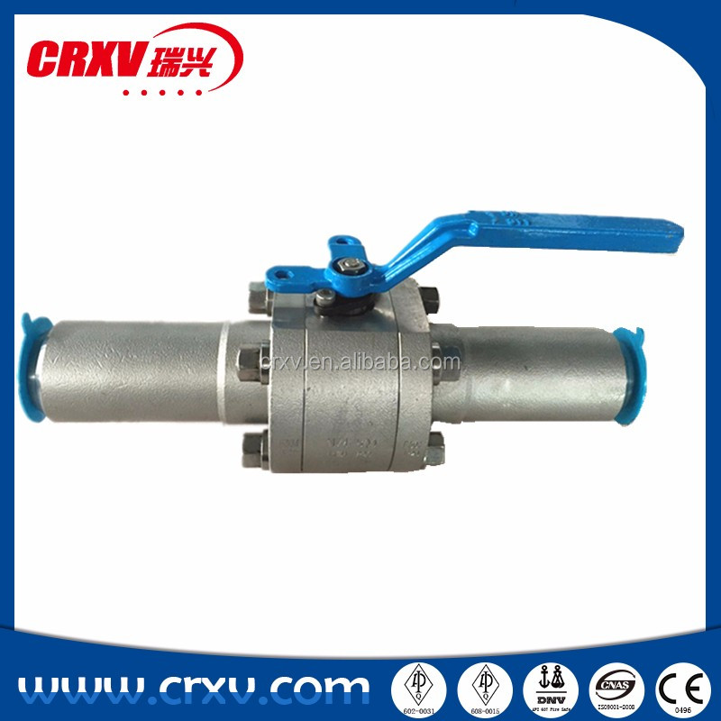 Oil and Gas Industrial Full Bore Forged SS304 Ball Valve BS 5351