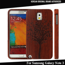 100% Nature Real Bamboo Wood Phone Case for Samsung Galaxy Note 3 N9000 Handmade Protective Cover Hard Back Case