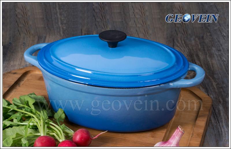 Cast Iron enamel oval hot pot