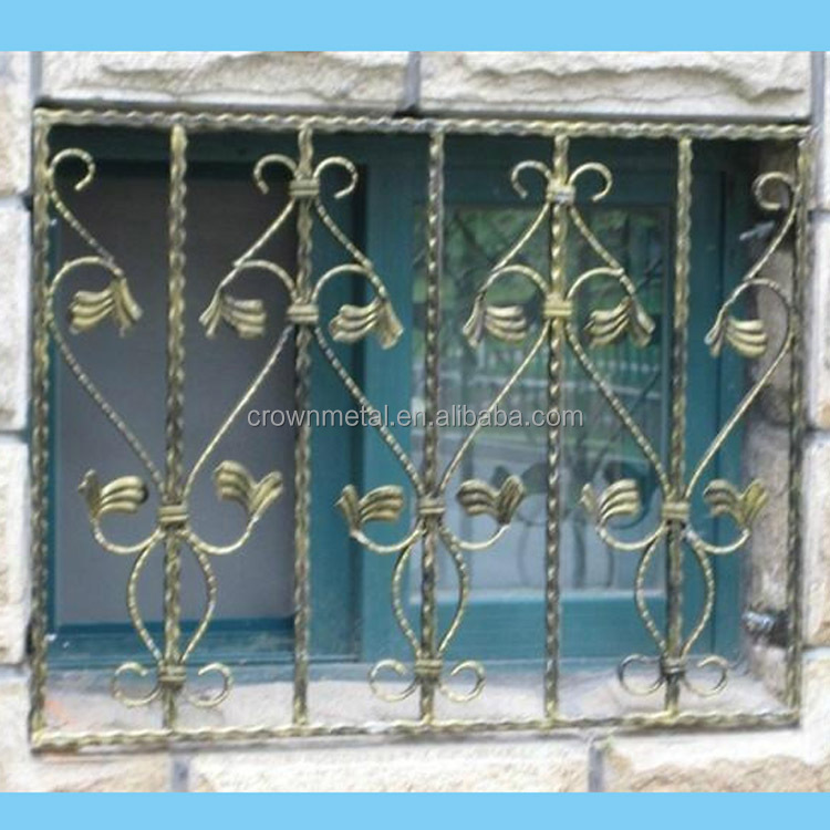 High quality decorative wrought iron window grill