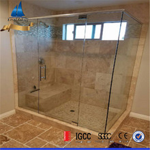 bathroom wall tempered glass panel