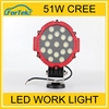 Super Bright Universal Car Accessory 51W Auto Led Work Light For Trucks