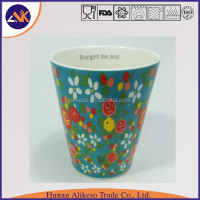 Competitive price and colorful flower painted cheap new bone china ceramic coffee mug with handle for Christmas gift