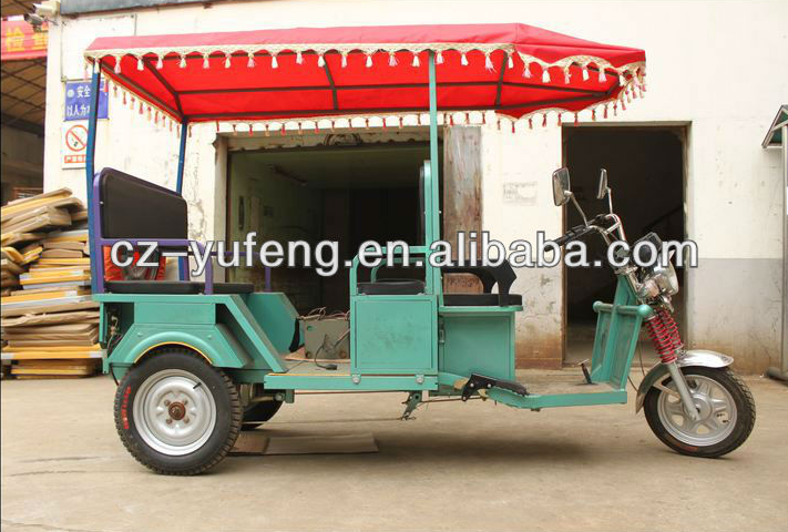 High power electric auto rickshaw for 5 people