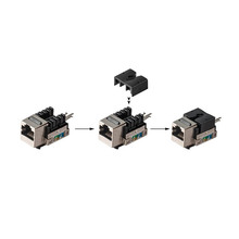 Factory made oem network telecom part 90degree 8P8C cat-6 rj45 keystone jack with factory price