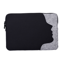 China manufacturer OEM logo vintage felt zipper laptop sleeve