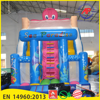 Airpark Water Park Commercial Grade PVC Tarpaulin Inflatable Water Slide Used