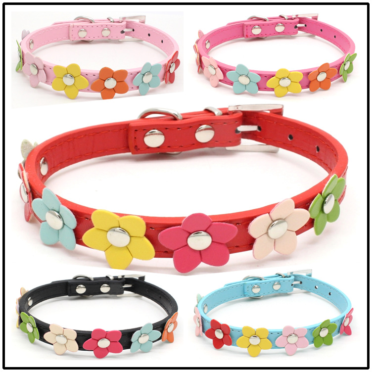 Fashionable Pet Crystal Accessory PU Leather Dog Collar