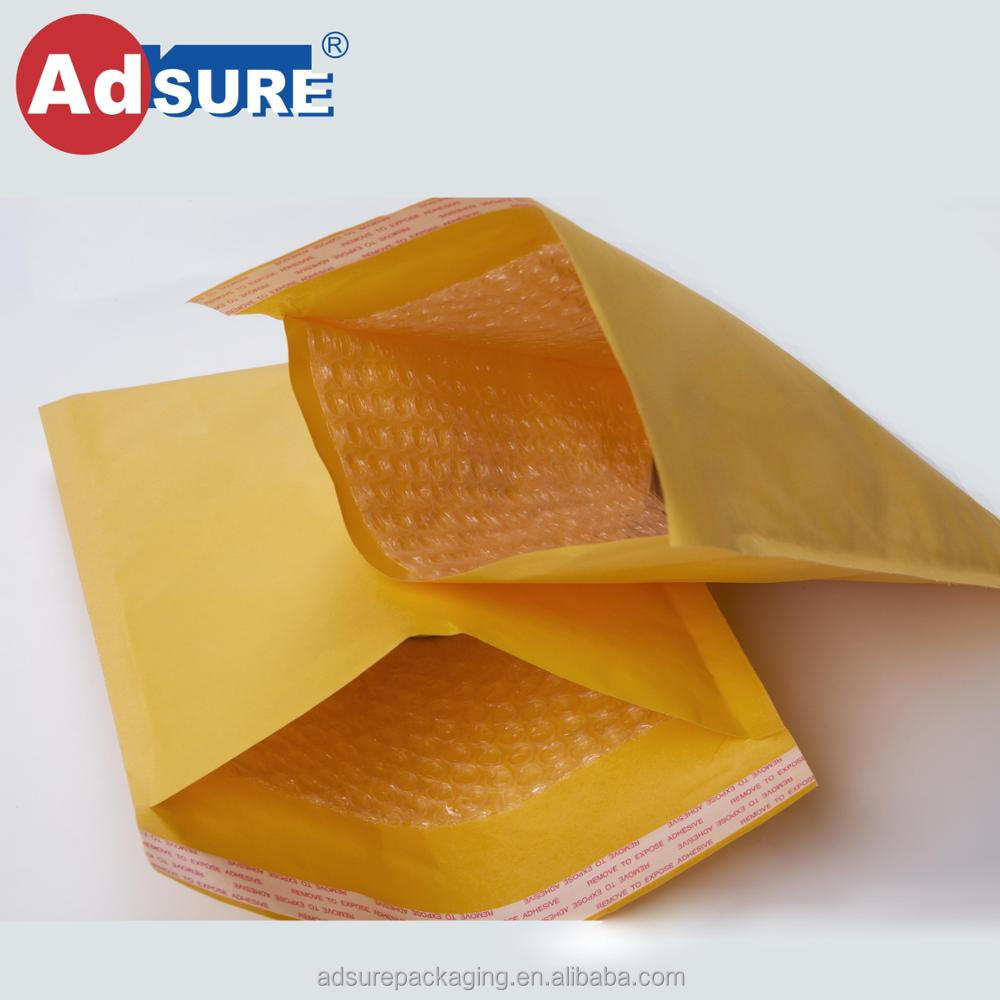 Custom Printed Poly Bubble Mailer Bag Padded Plastic Bubble Mailing Bags Shock Packaging