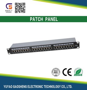 "2017 Trending Products Chinese Supplier Cat6A STP 24 Ports 19"" 1U Patch Panel RJ45 AMP KRONE 24 PORT CAT6 CAT5E PATCH PANEL"