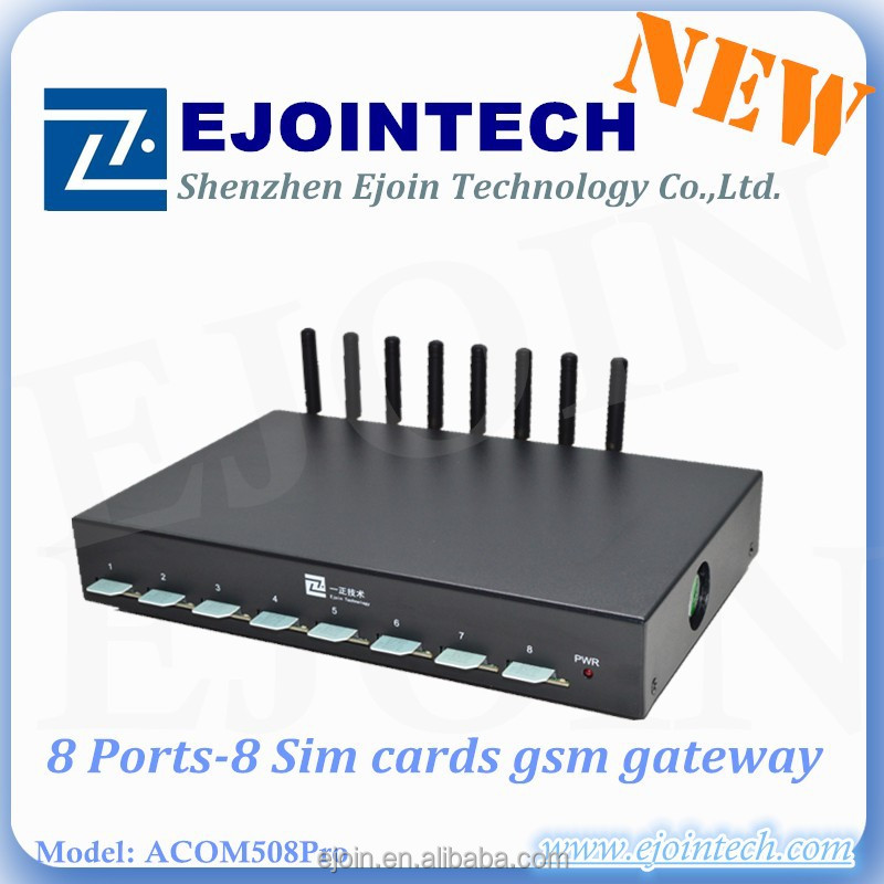 Hot ejointech 8 port 8/32 sim cards16 ports 64 sims 32 ports 128 sim GSM/CDMA voip pbx voip gateway voip products for terminal