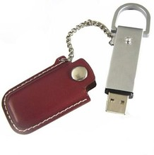 Manufavture leather usb 2.0 flash drive usb memory custom logo 16gb