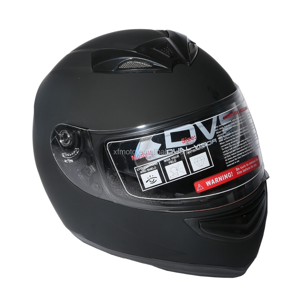 Dual Visor Matte Black Street Sport Bike Full Face Motorcycle Helmet M/L/XL