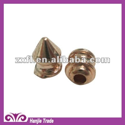 Cone Spike Metal Stud For Clothing Garment With Screw Backing Gold