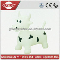 Cute pvc animal hopper cow