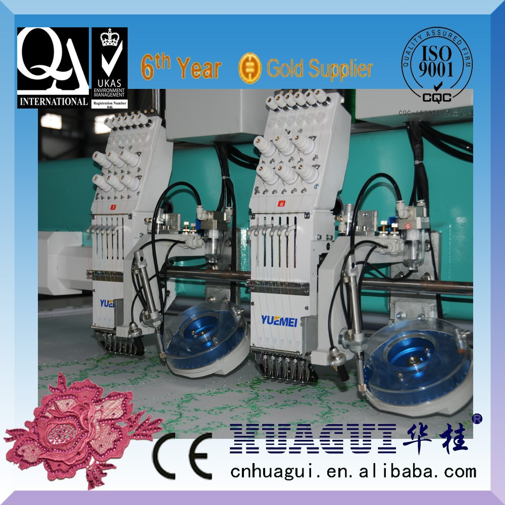 7 Heads Mixed Computer embroidery machine prices and rhinestone setting Machine price