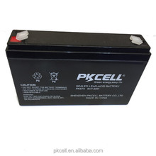 PKCELL Brand 6v 7ah rechargeable lead acid battery Hot sale in Brazil Market