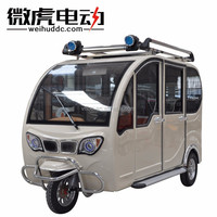 e trike with crank handle for adults/manned tricycle with 800w motor/covered electric tricycle for people
