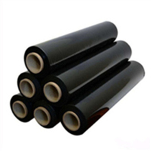 Opaque black color hand stretch film wrap