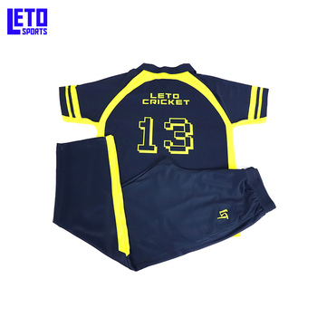 Sublimation Cricket Jersey Sports Jjersey Full Hand Cricket Jersey Design