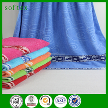 Promotional polyester-cotton jacquard 28*55' bath towels